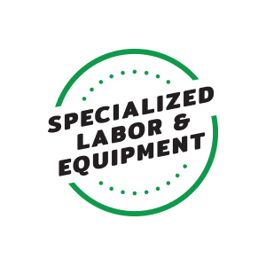 specialized packaging labor and equipment